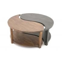 table basse ying yang bicolore