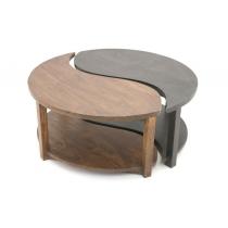table basse ying yang bois